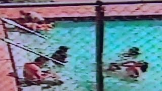 Terrifying video of kids shocked in pool