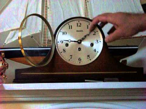 Hermle Westminster Chime Tambour Mantel Clock