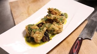 Breville Presents: Chef Kelly English Fried Sweetbreads Recipe