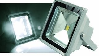 Прожектор LED 50 WATT !.(Яркость света . Площадь. Внешний вид прожектора.Цена., 2014-03-23T06:21:37.000Z)