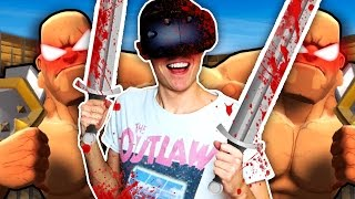 ENDLESS HORDE OF GLADIATORS IN VIRTUAL REALITY! (GORN VR Funny HTC Vive Gameplay)