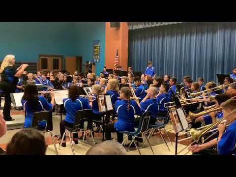 Bandera middle school band performance of jingle bells