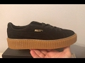 Rihanna Suede Creepers Puma shoes black gum 361005 02