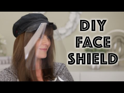 DIY Face Shield / Face Mask Easy No Sew Baseball Cap Hat!