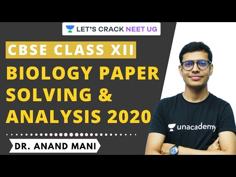 CBSE Class 12 Biology Board Question Paper Analysis & Solving | CBSE 2020 | Dr. Anand Mani