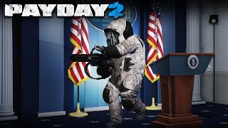 White House with MINIGUN DOZERS! (PAYDAY 2 Heavy Security Mod)