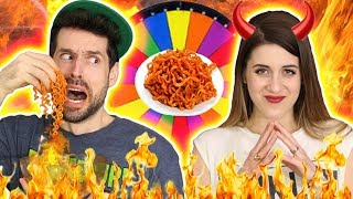 CHALLENGE EXTREME DENYZEE vs HUBY - SPICY NOODLES