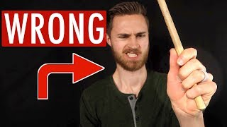 How NOT to Hold Your Drum Sticks...
