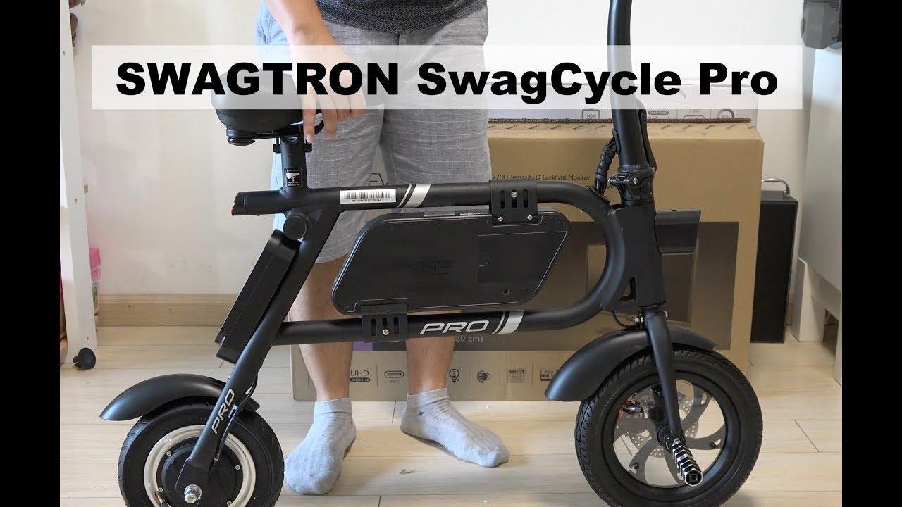 0cad7f4de62 SWAGTRON SwagCycle Pro Folding Electric Bike Unboxing & Setup - YouTube