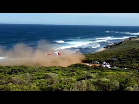 Western Australian shark attack victim taken to hospital by helicopter
