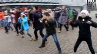 Флешмо́б на площади Ленина, Lockti Dance zonE. Барановичи, 29.12.2013.
