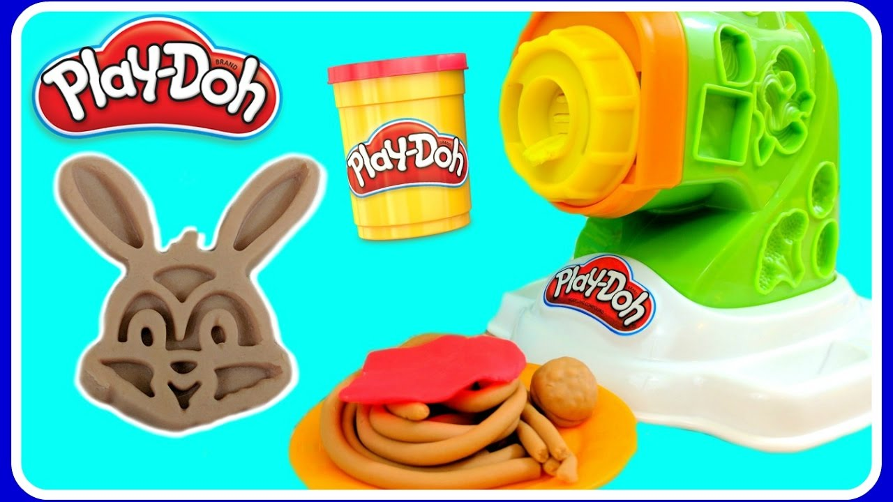 Play Doh Noodle Makin\' Mania Kitchen Creations! DIY Play Doh Food ...
