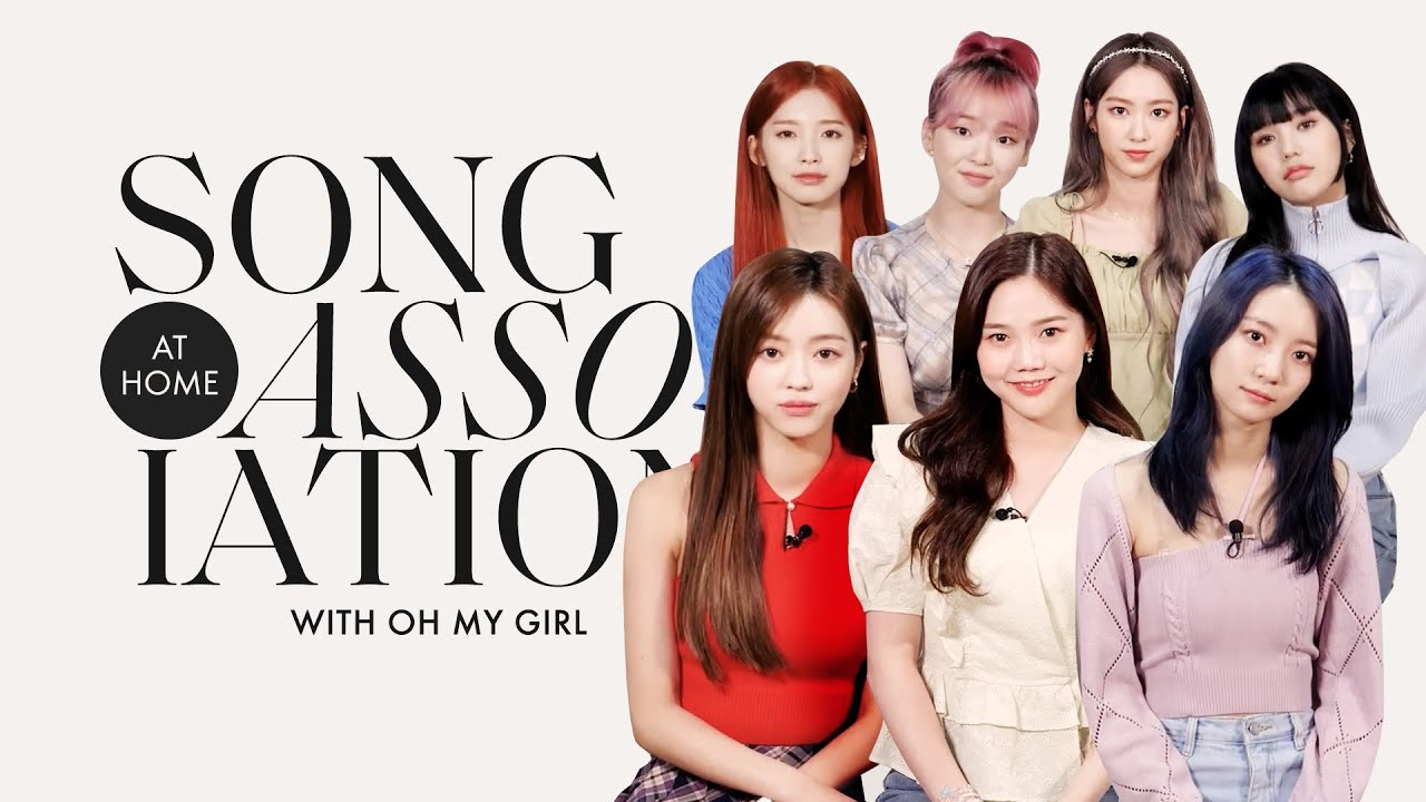 OH MY GIRL Sings BLACKPINK, TWICE, and SEVENTEEN in a Game of Song Association