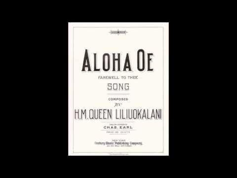 Aloha'Oe - Queen Lili'uokalani (with lyrics)
