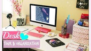 Desk Tour + Affordable Organization Ideas!! / Brittany Nicole