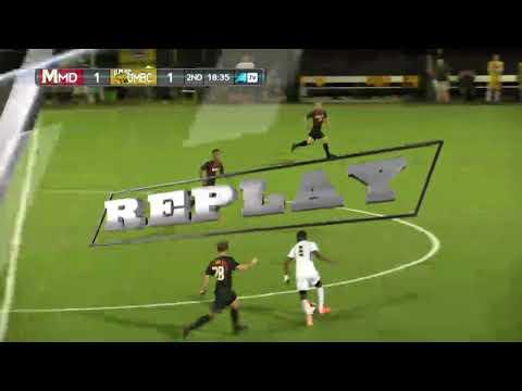 UMBC Men's Soccer vs #1 Maryland Highlights 9/26/17