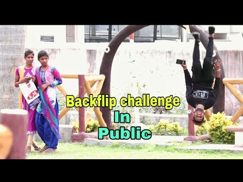 India's 1st backflip challenge in indian public || inspire by coolest om & grant fox || be fukrey