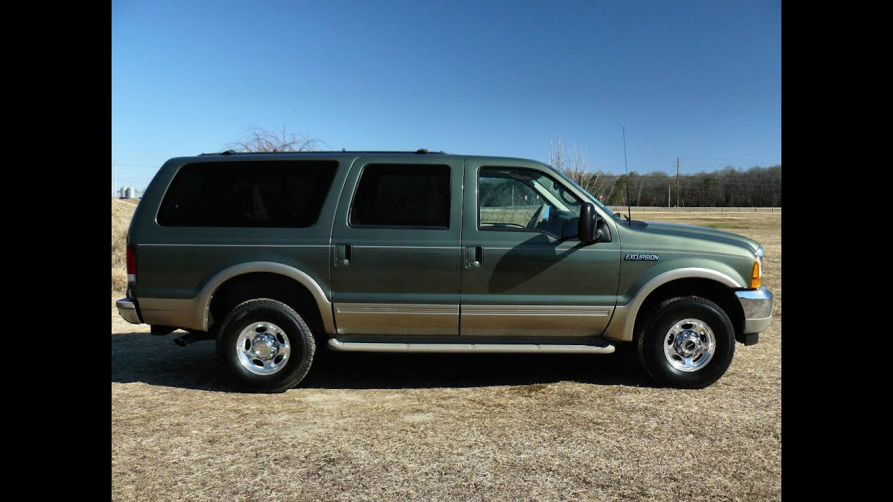 2000 ford excursion limited 7 3 diesel 80 000 miles for sale b7381 youtube. Black Bedroom Furniture Sets. Home Design Ideas