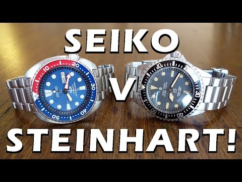 Automatic Dive Watch Duel: Seiko Turtle SRPA21 Vs Steinhart Ocean Vintage Military - Perth WAtch #76