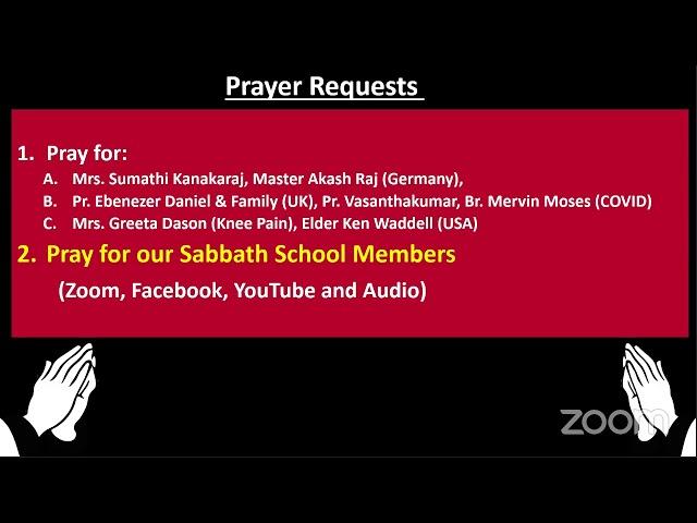 17 Feb 2021–Qtr.1:ISAIAH-LS-8:Tamil Sabbath School –இரக்கமுள்ள சிருஷ்டிகர் – by Sis. Victoria George