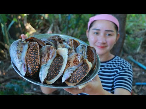 Yummy Sea Snail Cooking Blossom – Banana Blossom Salad Sea Snail – Cooking With Sros