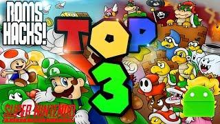 Top 3 Roms Hacks Super Mario World Snes ANDROID!!!!!