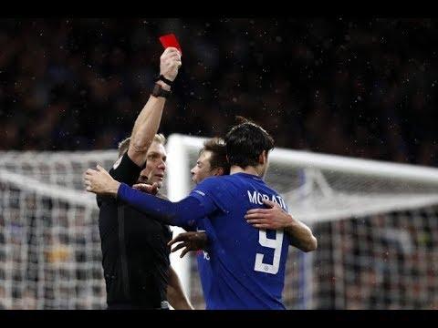 Morata Fastest 2 Yellow Card Chelsea Vs Norwich City 1-1