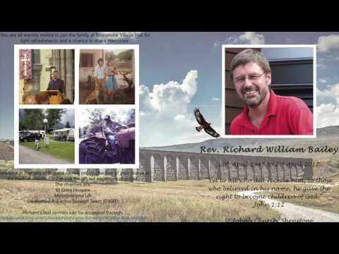 Rev. Richard Bailey Thanksgiving Service - (Audio recording of service) - April 2017