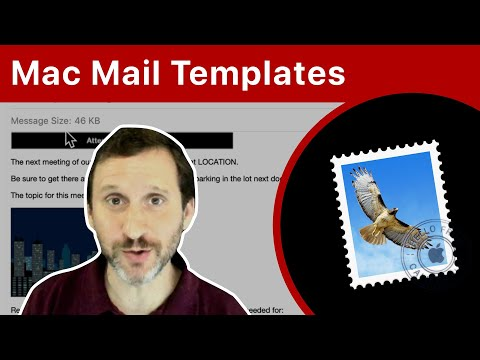 How To Create Email Templates In Mojave Mail (MacMost #1884)