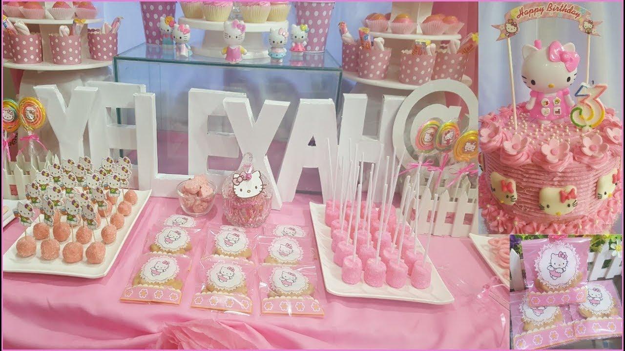 hello kitty party ideas diy candy buffet dessert table yelexah s rh youtube com candy buffet bags diy diy candy buffet labels