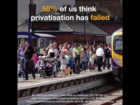 Rail fares up again - it's time for public ownership!