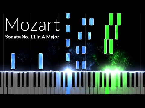 Sonata No. 11 in A Major 1st Movement - Wolfgang Amadeus Mozart [Piano Tutorial] (Synthesia)