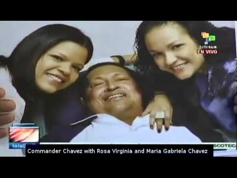 Venezuelan government shows photos of President Hugo Chavez