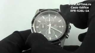 Обзор. Мужские наручные часы Casio Edifice EFR-526L-1A(Подробное описание и фото: http://www.alltime.ru/catalog/watch/374/casio-edifice/Man/9160/detail.php?ID=658812&back=list., 2014-07-10T13:47:36.000Z)