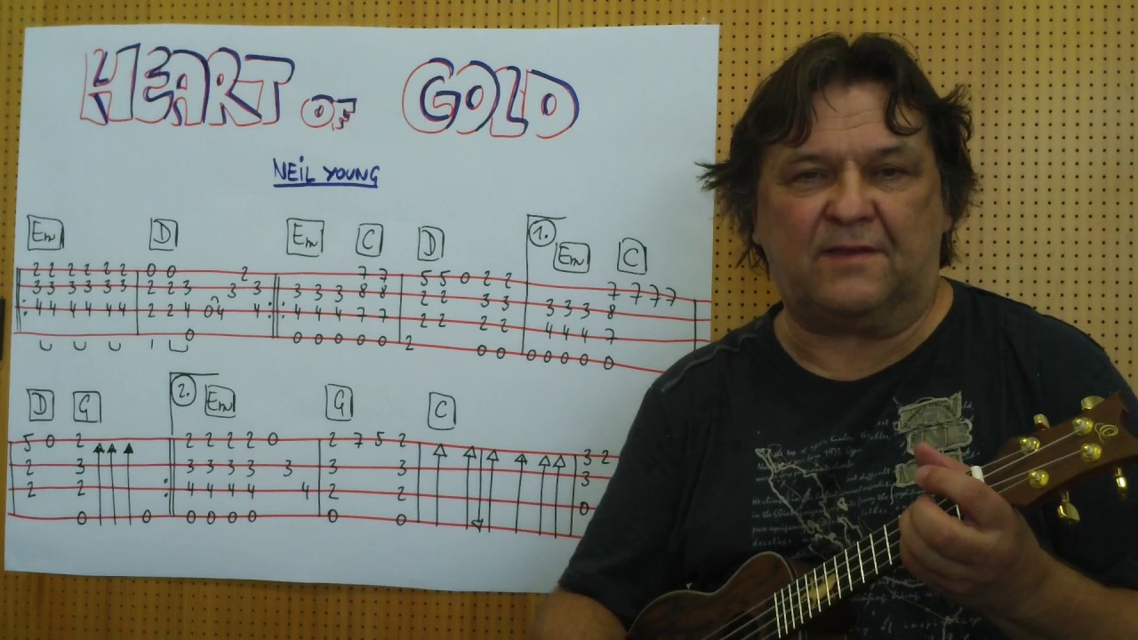 Fingerstyle Ukulele Lesson 45 Heart Of Gold Neil Young