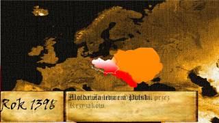 Animacja zmian granic Polski