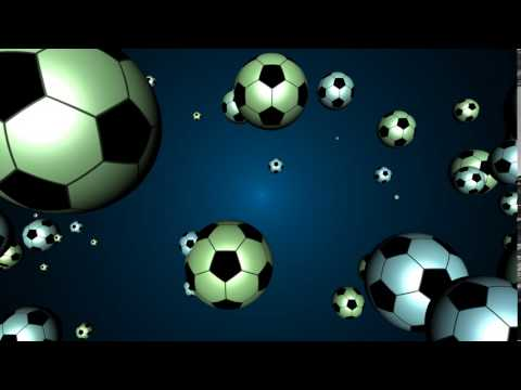 HD Soccer Balls Animation Background