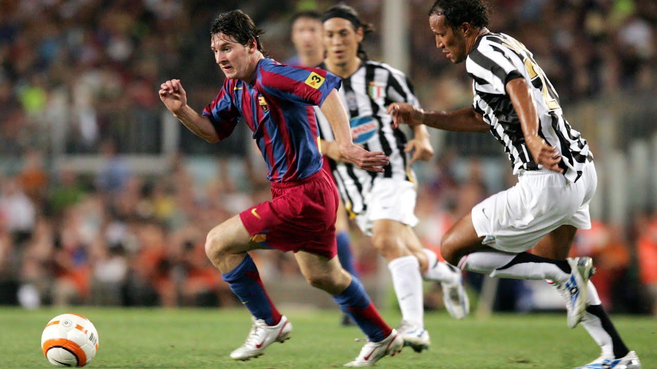 Messi's amazing performance vs Juventus (Gamper 2005) - YouTube