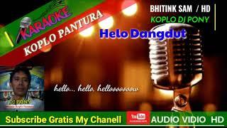 HALO DANGDUT - KARAOKE DANGDUT KOPLO PANTURA - TEKS TANPA VOCAL - DJ PONY