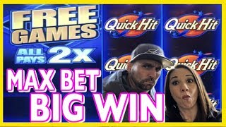 🤩🌟 MAX BET Quick Hits 💰BIG WIN 👑Slot Queen VS. Slot Hubby 🥊
