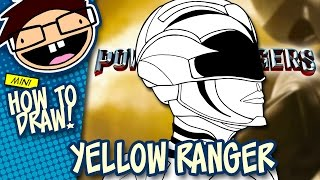How to Draw YELLOW RANGER (Power Rangers [2017] Movie) | Narrated Easy Step-by-Step Tutorial