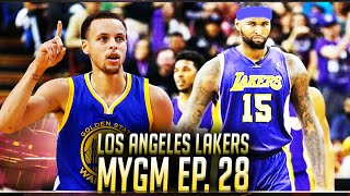 NBA2K16 Lakers MyGM Ep. 28 - The Playoffs Begin! Games 1 & 2 VS Golden State Warriors!