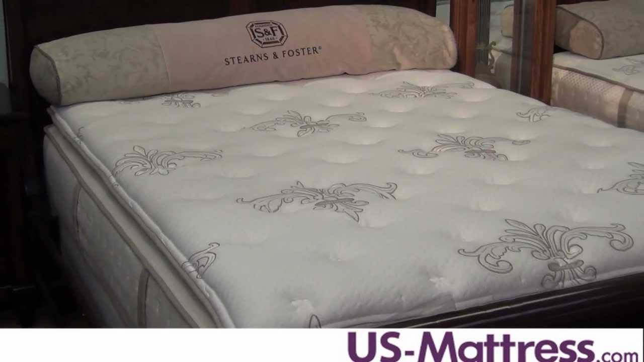 Stearns Foster Terri Luxury Firm Euro Pillowtop Mattress Youtube