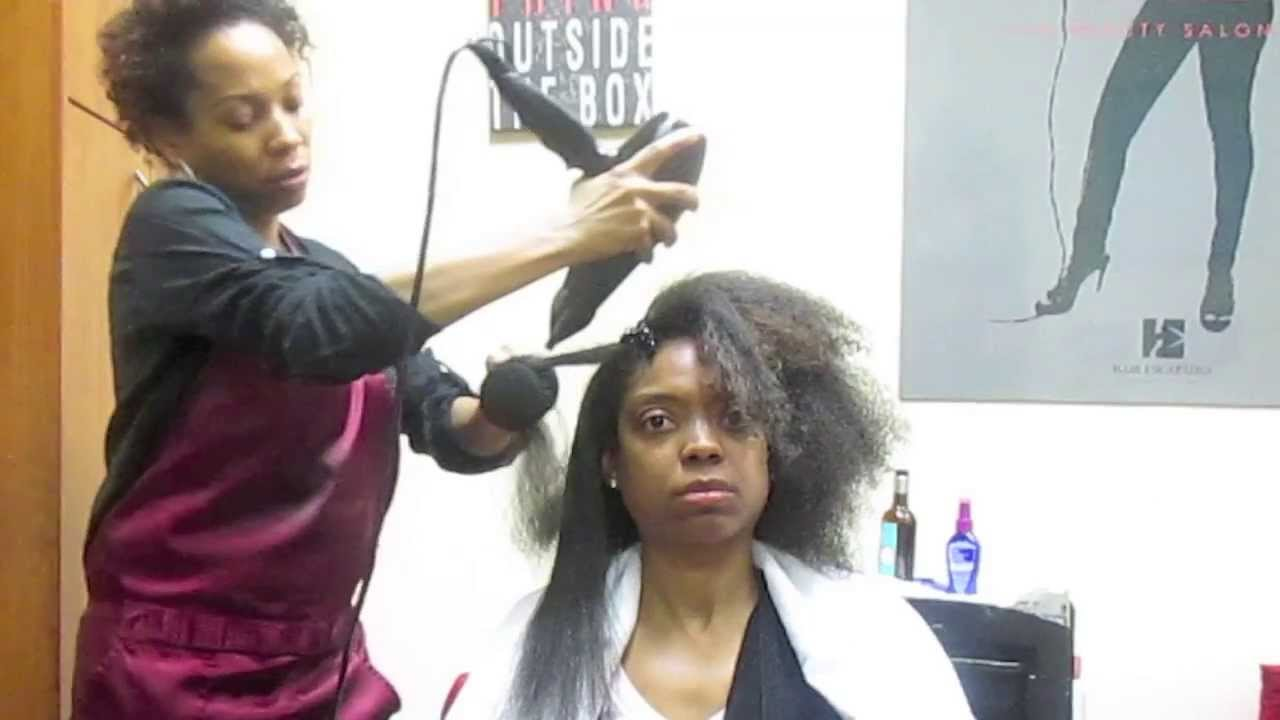 How To Straighten African American Hair Youtube