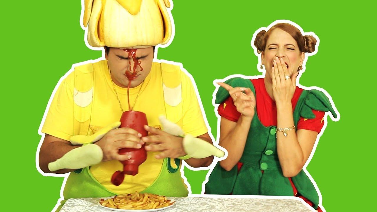 فوزي موزي وتوتي – فوزي والكتشوب – Ketchup on Fozi