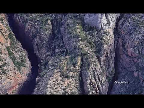 Zion National Park The Narrows Google Earth flyover