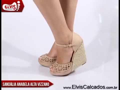 a9e10f206e Sandália Anabela Alta Vizzano 6215225 Bege - YouTube
