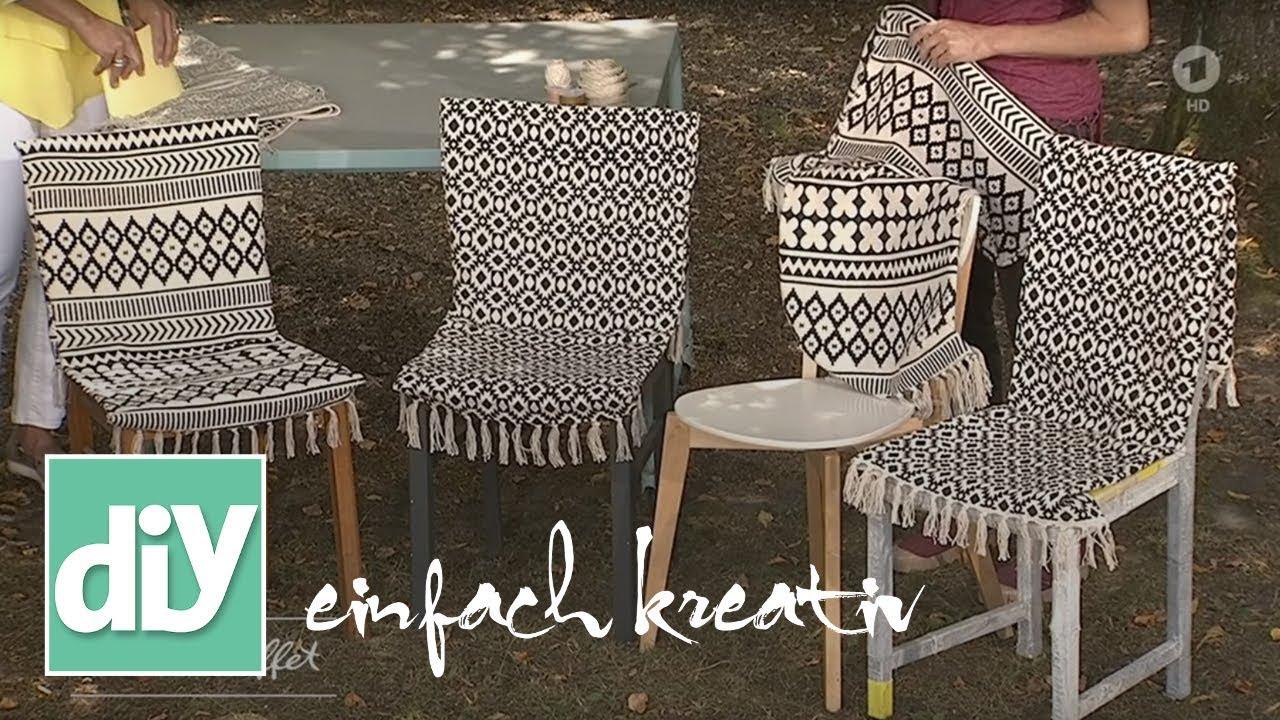 Upcycling: Stuhl mit Webteppich beziehen | DIY einfach kreativ