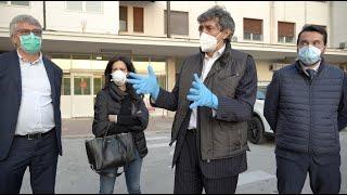 Covid Hospital Atessa, la visita del Presidente della Regione Abruzzo, Marco Marsilio