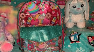 What's in my Sweet Themed Backpack Purse 🍭🍬🍭🍬